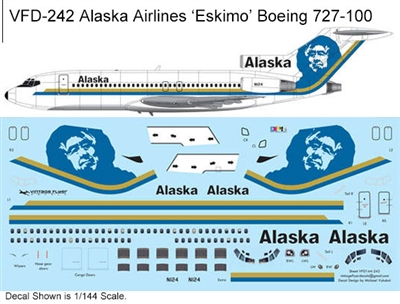 1:144 Alaska Airlines (blue 'Eskimo' cs) Boeing 727-100