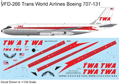 1:144 Trans World Airlines Boeing 707-131