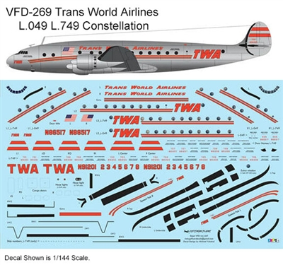 1:144 Trans World Airlines L.049 / L.749 Constellation (2nd cs)