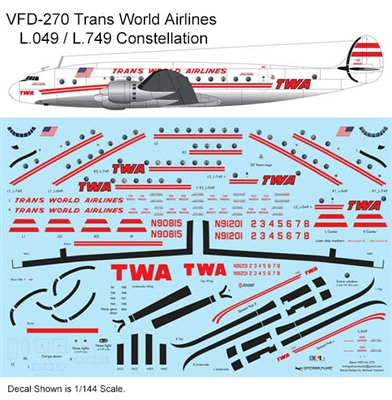 1:144 Trans World Airlines L.049 / L.749 Constellation (white cs)