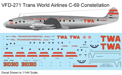 1:144 Trans World Airlines C-69 Constellation
