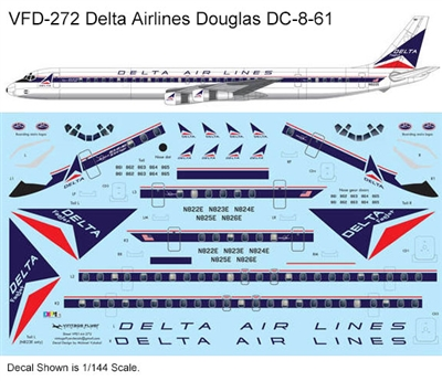 1:144 Delta Airlines (delivery cs) Douglas DC-8-61