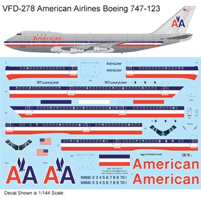 1:144 American Airlines (delivery cs) Boeing 747-123