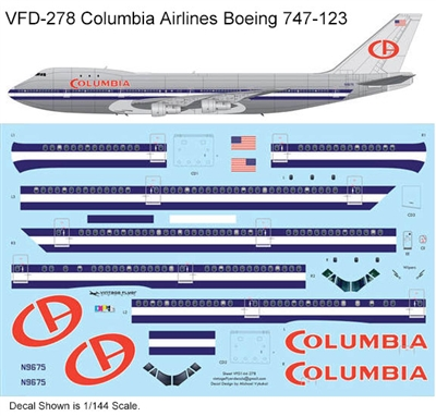 1:144 Columbia Airlines (Airport '75) Boeing 747-123