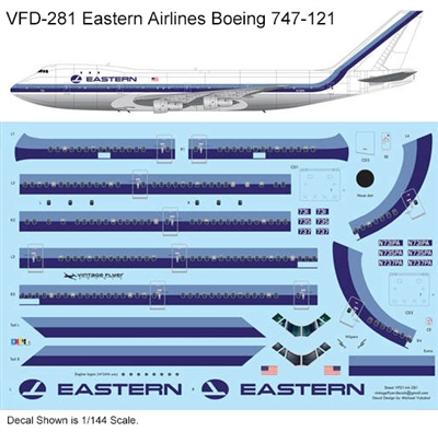 1:144 Eastern Airlines Boeing 747-121