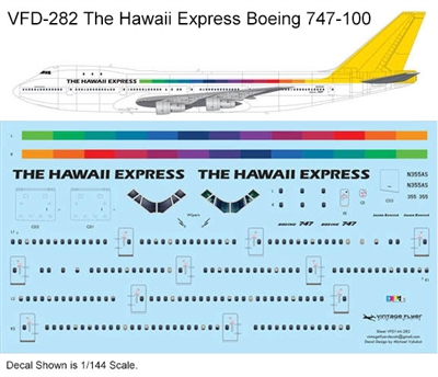1:144 The Hawaii Express Boeing 747-100