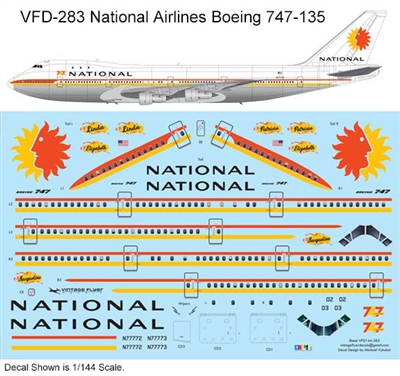 1:144 National Airlines Boeing 747-135