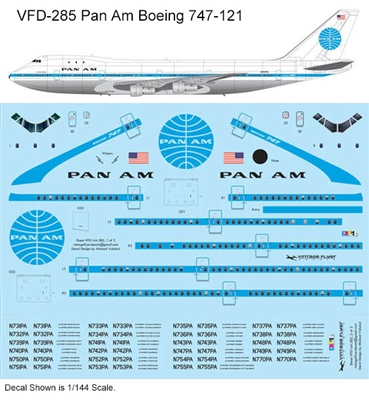 1:144 Pan Am Boeing 747-121