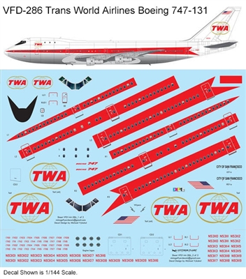 1:144 Trans World Airlines Boeing 747-131