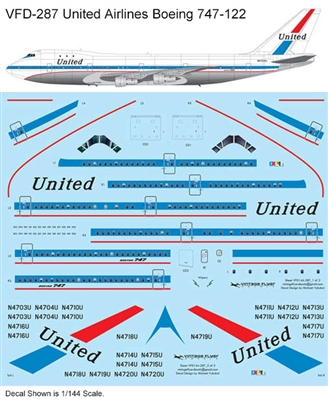 1:144 United Airlines Boeing 747-122