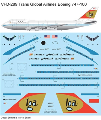 1:144 Trans Global Airlines Boeing 747-100