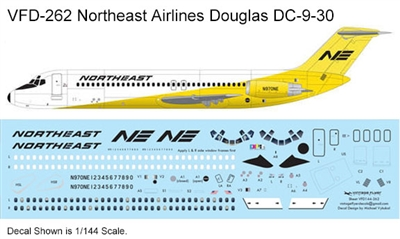 1:200 Northeast ('Yellowbird' cs) Douglas DC-9-30