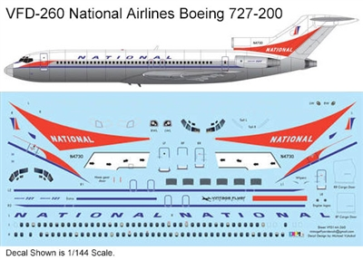1:72 National Airlines Boeing 727-200