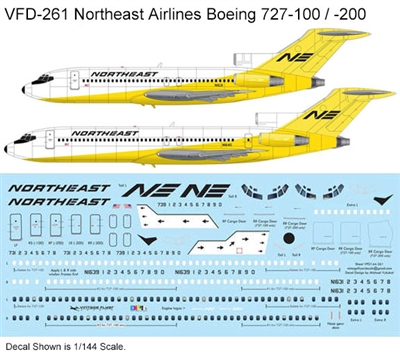 1:72 Northeast ('Yellowbird' cs) Boeing 727-100 / -200