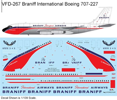 1:72 Braniff International Boeing 707-227