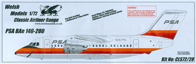 1:72 Bae 146-200, Pacific Southwest Airlines