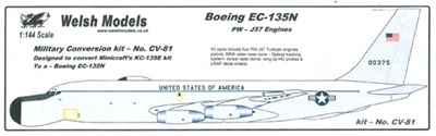 1:144 Boeing EC-135N ARIA Conversion