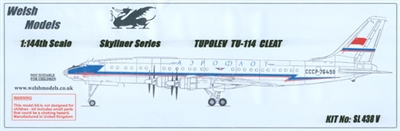 1:144 Tupolev 114 'Cleat', Aeroflot