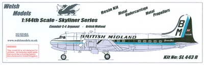 1:144 Canadair C.4 Argonaut, British Midland Airways