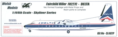 1:144 Fairchild Fh.227C, Delta Airlines