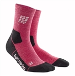 CEP Hiking Outdoor Mid Cut Socks Wild Berry