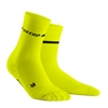 CEP Neon Mid Cut Running Socks Yellow