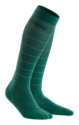 CEP Reflective Compression Socks Green