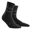 CEP Reflective Mid Cut Socks Black
