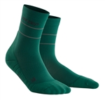 CEP Reflective Mid Cut Socks Green