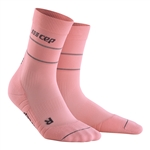 CEP Reflective Mid Cut Socks Pink