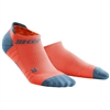 CEP No Show Running Socks Coral/Grey