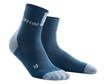 CEP Short Cut Running Socks Blue/Green