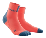 CEP Short Cut Running Socks Coral