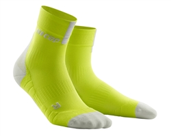 CEP Short Cut Running Socks Lime