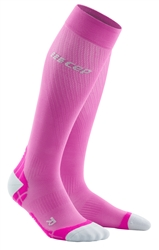 CEP Ultra Light Compression Run Socks Pink
