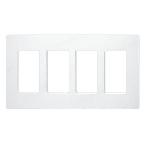 lutron claro designer style wall plate cw 4 wh. Black Bedroom Furniture Sets. Home Design Ideas