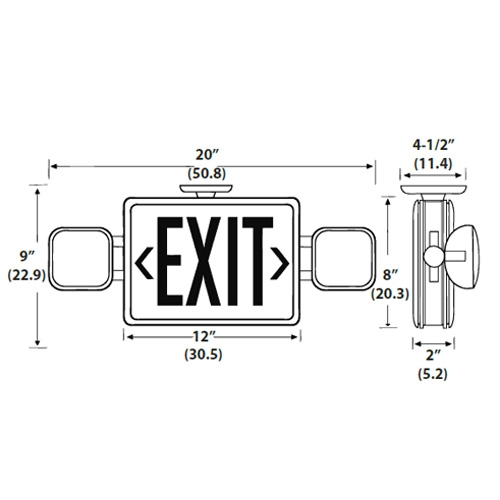 Lithonia Emergency Egress Lighting: LED Exit/Unit Combos