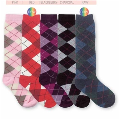 5bc2a412219 Jefferies Argyle Girls Knee High - 1 Pair   Shop Kids Socks at KidsSocks.com