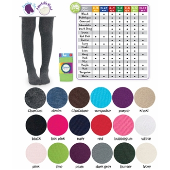 Jefferies Seamless Organic Cotton Girls Tights - 1 Tights