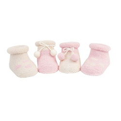 204b90d2e7b Sweet Feet 200 Wooly Pom Pink Girls Socks - 4 Booties