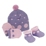 Sweet Feet 229 Dotty Baby Hat Set