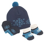Sweet Feet 230 Snowflake Baby Hat Set