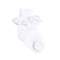 TicTacToe Organic Eyelet Anklet Girls Socks - 1 Pair