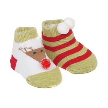 Sweet Feet Dashing Thru Snow Baby Shoe Socks