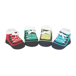 Sweet Feet 742 Sporty Sneaker Multi Baby Shoe Socks - 4 Pair