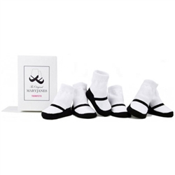 1df604bf451 Trumpette MaryJane White Basic Baby Shoe Socks - 6 Pair