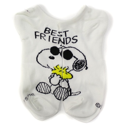 0e51820011 Peanuts Best Friend White Boys and Girls Socks - 1 Pair   Shop Kids Socks  at KidsSocks.com