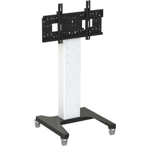 "8423 Mono Fixed Height Screen Mount Trolley, 1048 - 1448mm Centre of Mount, 42""-86"" Max 130kg"