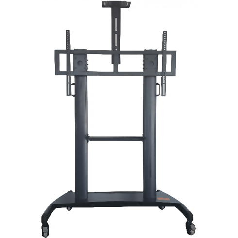 "HW86 Easy to Adjust Height Mobile Trolley for Screen 55""- 100"" max 136.4Kg"