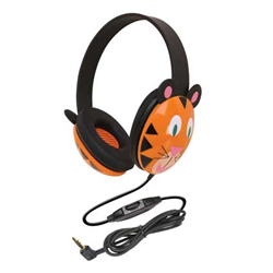 Califone 2810-TI Junior Animal Headphones - Tiger